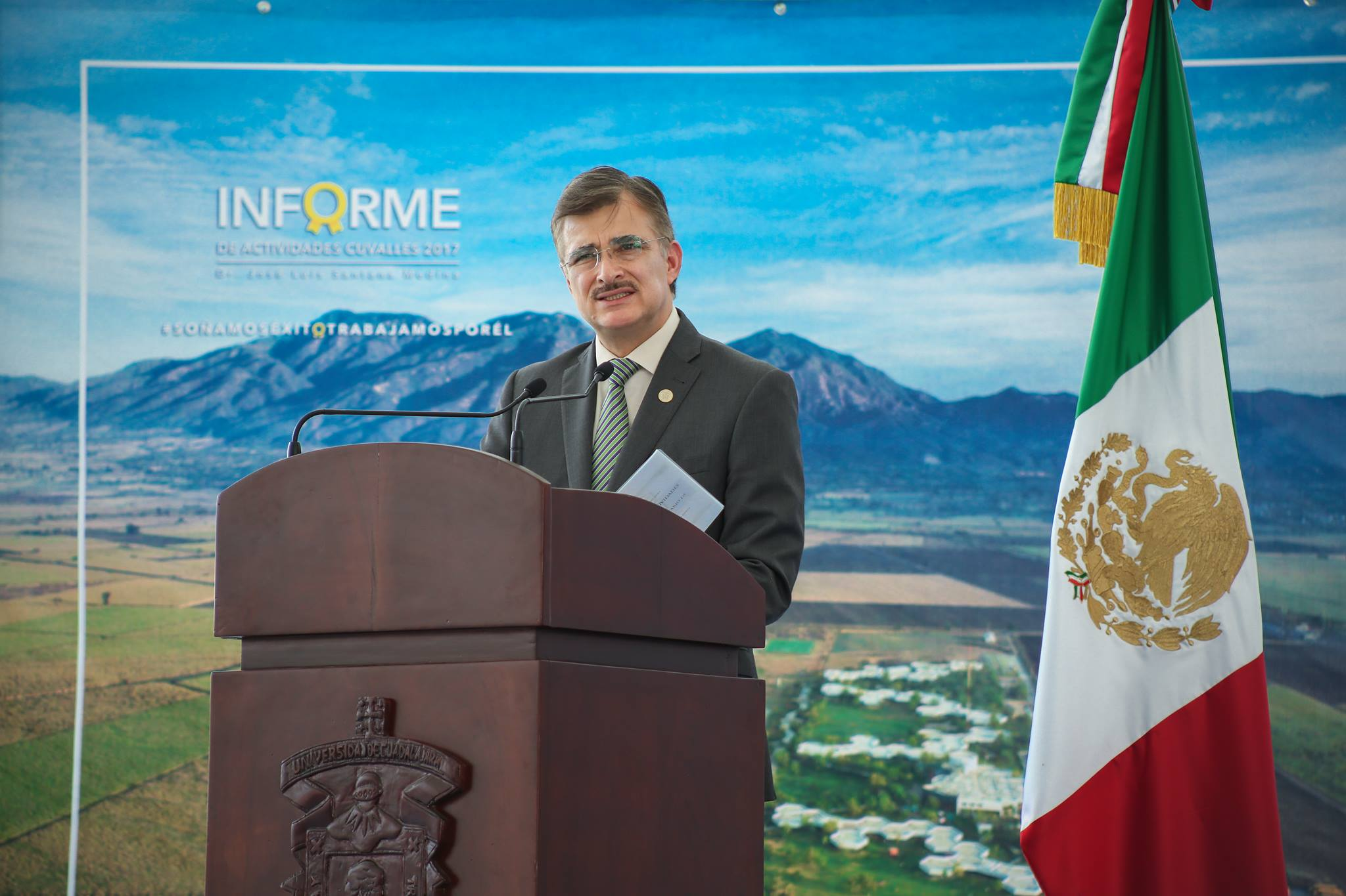 Palabras del Rector del General en informe de actividades 2017 del CUVALLES