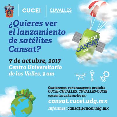 Cartel CANSAT CUCEI 2017