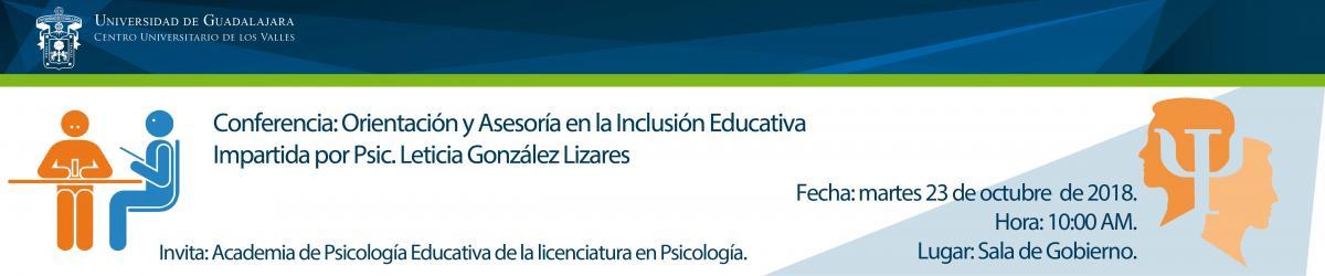 Conferencia: Orientación y Asesoría en la Inclusión Educativa