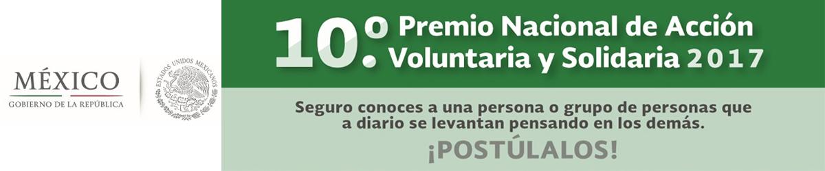 Convocatoria Premio Nacional de Acción Voluntaria 2017
